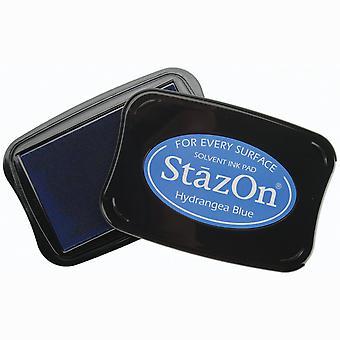 StazOn Solvent Ink Pad-Hydrangea Blue