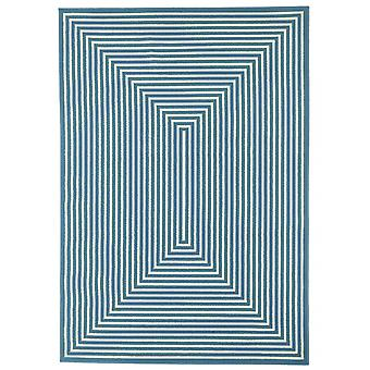 Outdoor carpet for Terrace / balcony light blue white vitaminic braid light blue 200 / 285 cm carpet indoor / outdoor - for indoors and outdoors