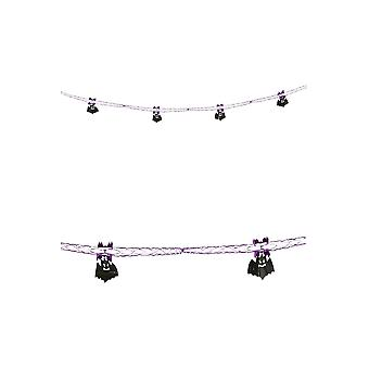 Halloween and horror  decoration garland with bats 2,7 m