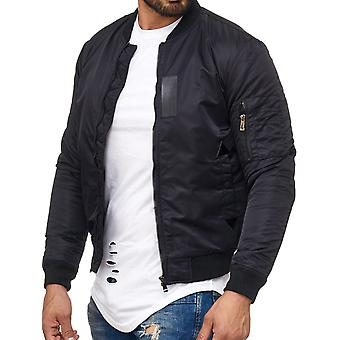 L.A.B 1928 men's bomber jacket black