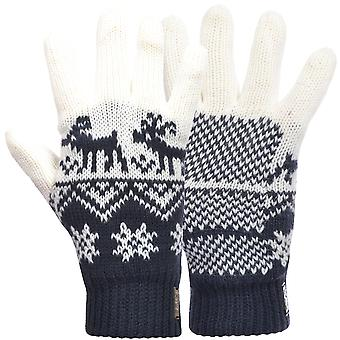 Fila Unisex Adults Winter Warm Woolie Nordic Knitted Gloves - Navy