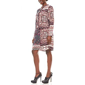 Cheer loosely falling ladies dress boho look stained
