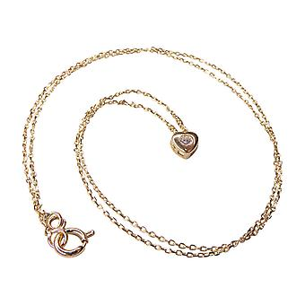 14 k Yellow Gold Heart Necklace