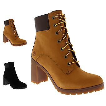 Womens Timberland Arllington 6 Inch Lace Block Heel Fashion Ankle Boots