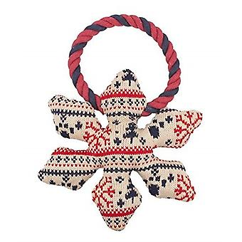 Pet Brands Christmas Snowflake Dog Chew Toy