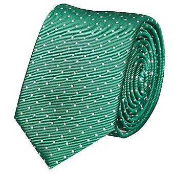 Stropdas tie stropdas tie 6cm groen met witte stippen Fabio Farini