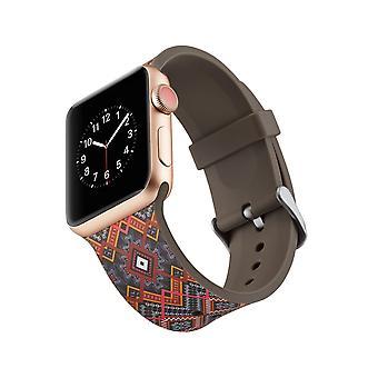 Silikon-Klockrem für Apple Watch 4 3/2/1 44 mm, 42 mm-einzigartige Blumen