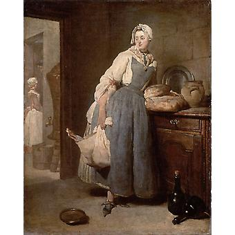 Return from the Market, jean-Baptiste-Simeon Chardin, 50x40cm