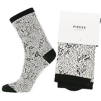 pieces stylish patterned ladies socks in the animal print white