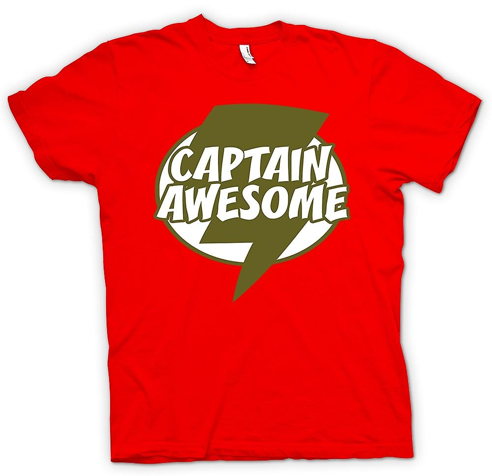 Heren T-shirt - Captain Awesome - Funny