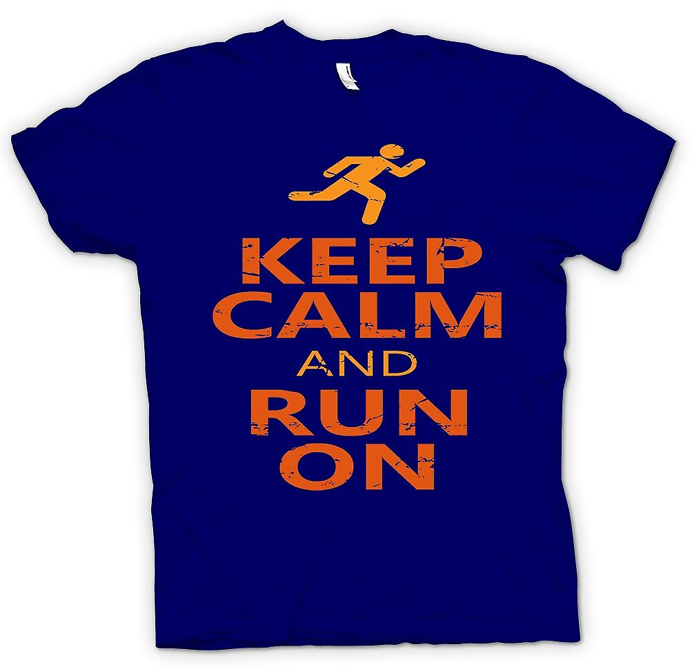 Mens t-shirt-Keep Calm And Run On - Cool Running