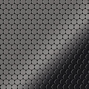 Metal mosaic Titanium ALLOY Penny-Ti-SM