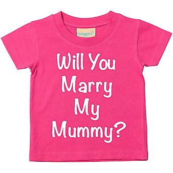 Will You Marry My Mummy? Pink Tshirt