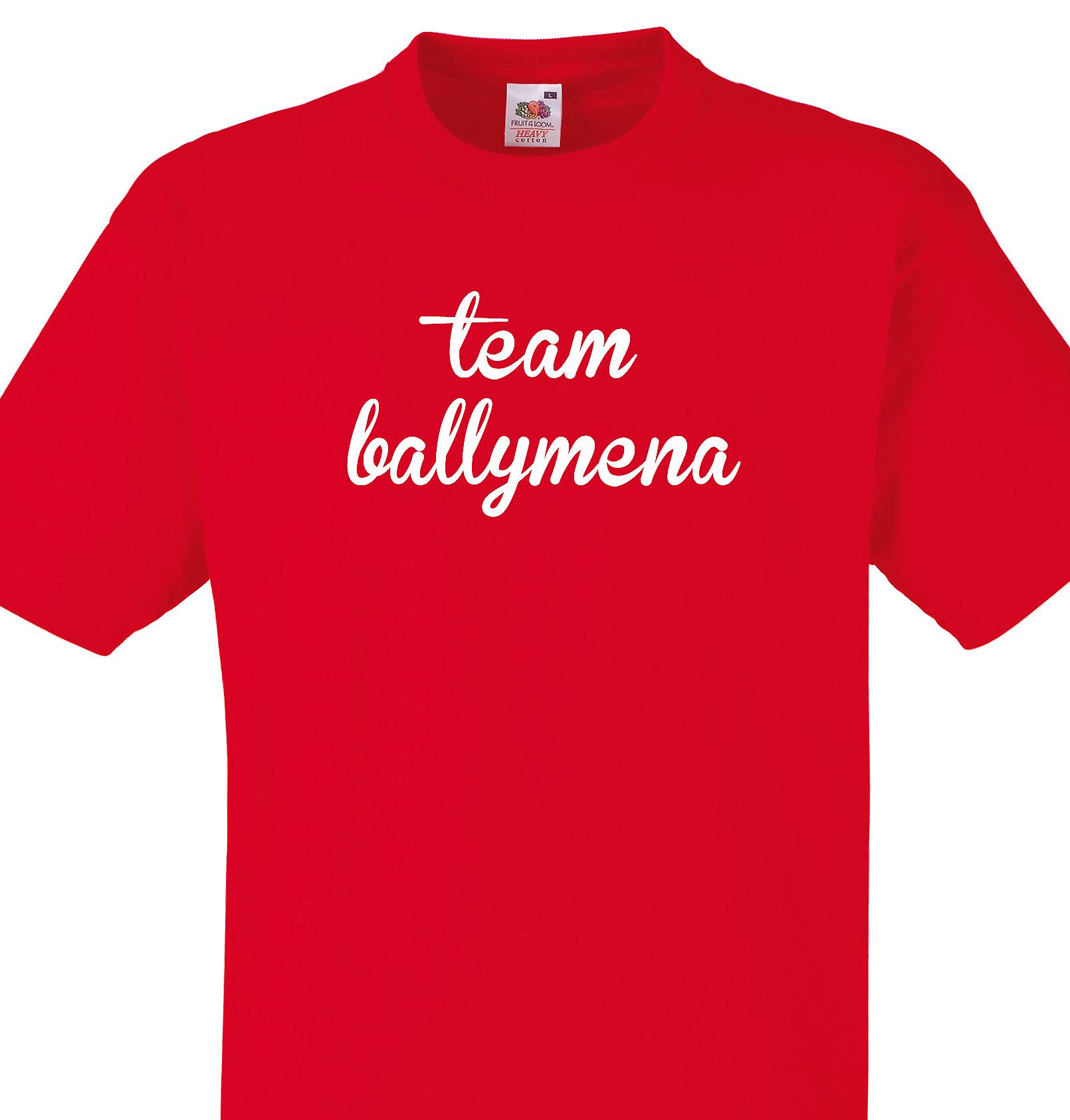 Team Ballymena Red T shirt