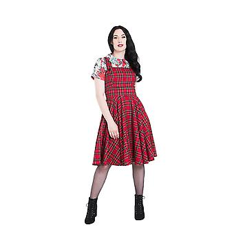 Hell Bunny Irvine Pinafore Dress S