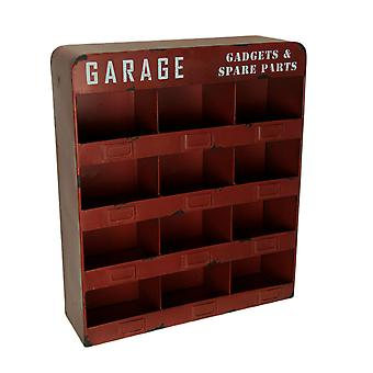 Garage Gadgets and Spare Parts Red Metal Hanging Storage Unit