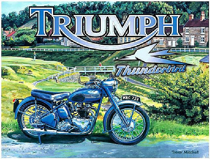 Triumph Thunderbird Steel Sign  (og 4030)