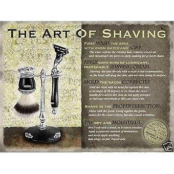 Art Of Shaving großes Metall Schild (Og 4030)