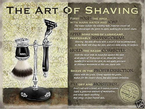 Art Of Shaving large metal sign  (og 4030)