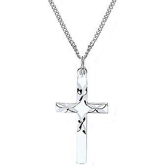 Bella D Cut Cross Pendant - Silver