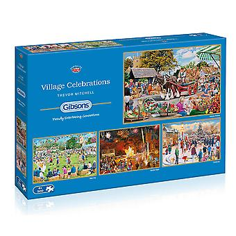 Gibsons Village Celebrations Jigsaw Puzzle (4x500 Piece)