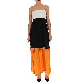 Semi-couture Multicolor Cotton Dress