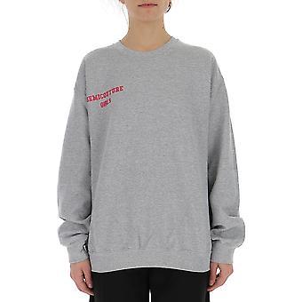 Semi-couture Anna Grey Cotton Sweatshirt