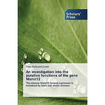 Un'inchiesta per le presunte funzioni del gene di Ntann12 da Oukouomi basso Yves