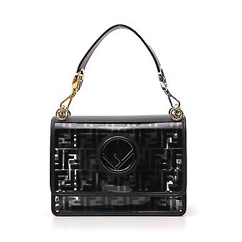 Fendi Black Leather Shoulder Bag