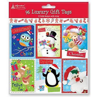 Cute Fun Christmas Character Gift Tags 250 Pack - (TKID)