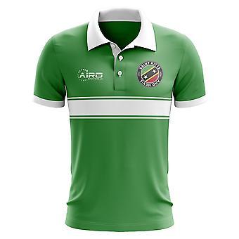 São Cristóvão e Nevis conceito listra camisa Polo (verde)
