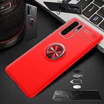 For Huawei P30 Pro magnetic metal ring ultra thin case red bag case cover cases protection