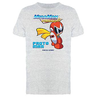 Megaman Powered Up Chibi Proto Man Graphic Men's T-shirt