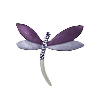 Eternal Collection Nymph The Dragonfly Purple/Lilac Enamel Costume Brooch