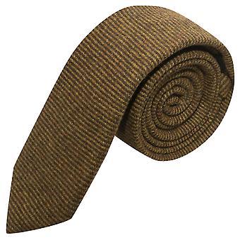Luxury Brown Sharkskin Stripe Tie
