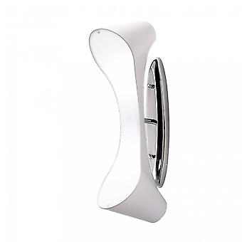 Mantra Ora Wall Lamp 2 Light E27, Gloss White Acrylic/Polished Chrome
