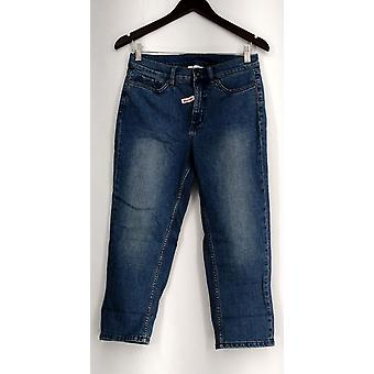 Denim & Co. Jeans Classic 5 Pocket Style Cropped Leg Blue A278300