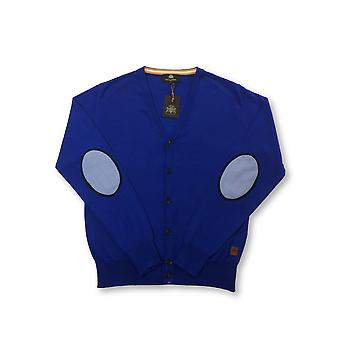Circle of Gentleen Aldwin knitted cardigan in blue