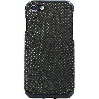 Candywirez Vegan Leather Case for Apple iPhone 6 / 6S / 7 / 8 (Crocodile Black a