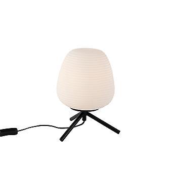 QAZQA Design table lamp black 20 cm with opal glass - Hero