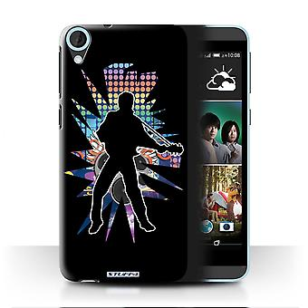 STUFF4 Case/Cover for HTC Desire 820q Dual/Elvis Black/Rock Star Pose