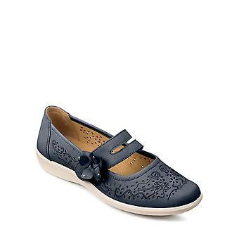 Ladies Womens Touch Fasten Strap Shoe Wide Fit