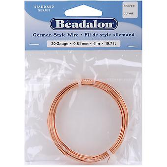 German Style Round Wire 20 Gauge 19.7 Feet Pkg Copper 180Cu020