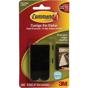 Command Medium Picture Hanging Strips Black 4 Sets Pkg 17201Blk