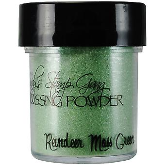 Lindy's Stamp Gang 2 Tone Embossing Powder .5Oz Jars Reindeer Moss Green Lsg Ep 17
