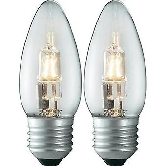 Eco halogen 93 mm Sygonix 230 V E27 40 W Warm white EEC: C Candle shape dimmable 2 pc(s)