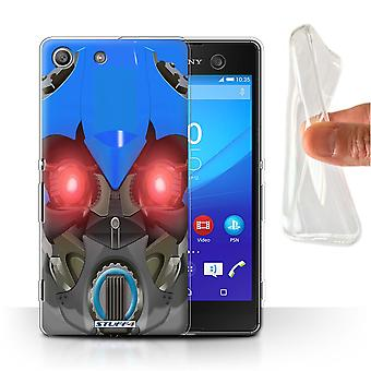 STUFF4 Gel/TPU Case/Cover for Sony Xperia M5/Bumble-Bot Blue/Robots