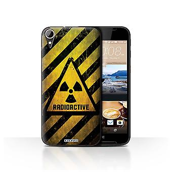 STUFF4 Case/Cover for HTC Desire 830/Radiation/Hazard Warning Signs