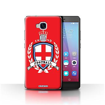 STUFF4 Case/Cover for Huawei Honor 5X/GR5/England/English/Football Emblem