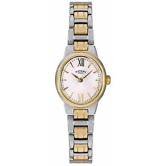 Rotary Womens Two Tone Bracelet White Dial LB02747/01 Watch
